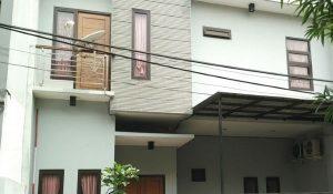 tampak depan rumah dijual di kebayoran baru